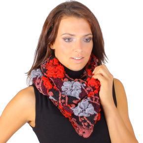 Moderní červený šátek Melissa D1
