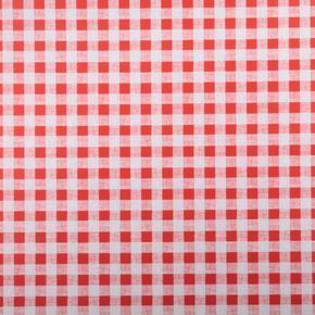 Omyvatelný ubrus motiv Kostička malá metráž červený