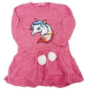 Dívčí úpletové šaty s blikacím obrázkem Viola