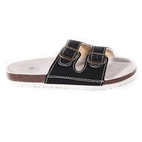 Páskové korkové pantofle Simba černé