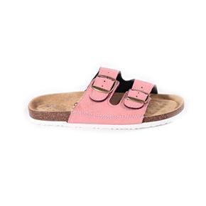 Páskové korkové pantofle Tana sv. růžové