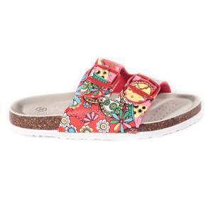 Dívčí květované pantofle Flover červené