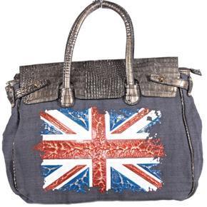 Trendy černá kabelka Vilda motiv England 1G