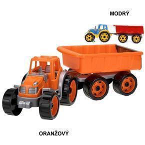 Dětský traktor 54cm se sklápěcím přívěsem Teo
