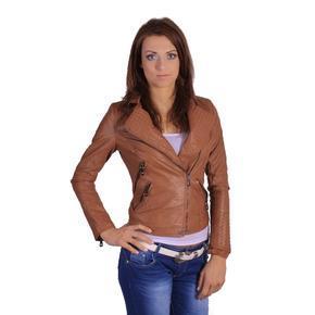 Krátká bunda do pasu Inke hnědá
