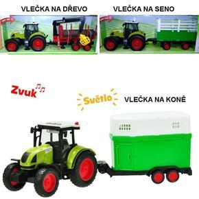 Traktor s vlečkou na setrvačník 38cm Ajax