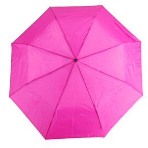 Jednobarevný skládací deštník Lejla růžový