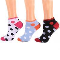 Puntíkaté nízké dámské ponožky A8b CB