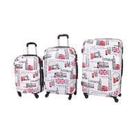 Cestovní kufry ABS sada 3 kusy motiv London