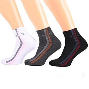 Bavlněné thermo ponožky D7d BW