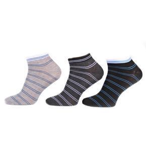 Pruhované kotníkové ponožky G5c