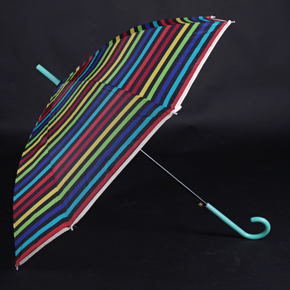 Pruhovaný deštník Dora zelený