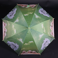Holový dětský deštník Kara světle zelený