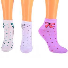 Nízké bavlněné ponožky C4c BW