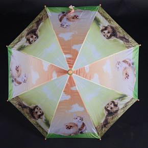 Holový dětský deštník Kara oranžový