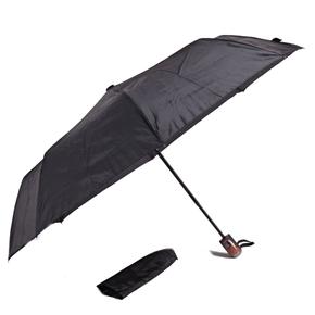 Jednobarevný skládací deštník Lejla černý