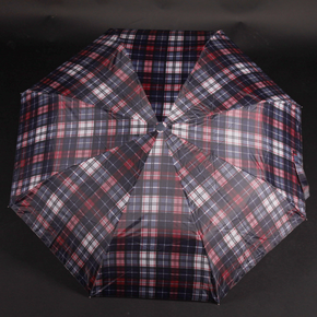 Pánský skládací deštník Alan červený