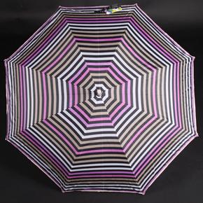 Pruhovaný deštník Dora hnědý