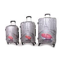 Cestovní kufry ABS sada 3 kusy motiv Paris
