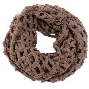 Hnědý zimní šátek Karol C2