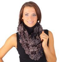 Dámský zimní šátek Melissa hnědý D1