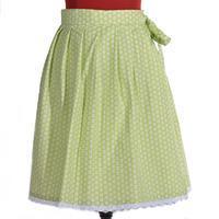 Zelená zavinovací sukně Květinky