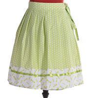 Zelená zavinovací sukně Katey