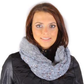 Zimní nákrčník Hayley šedý G1