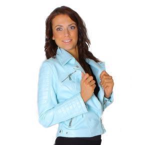 Módní koženková bunda Francis modrá