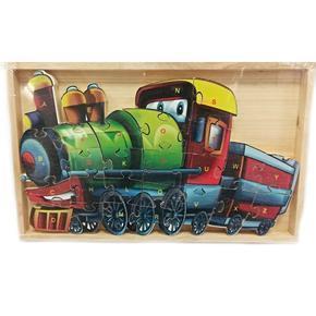 Dětské dřevěné puzzle Mašinka