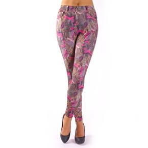 Fialové legíny Donna kalhotový střih