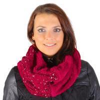 Červený nákrčník Hayley pletený G1