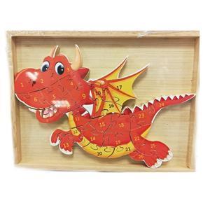 Dětské dřevěné puzzle Drak