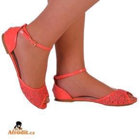 Dámské růžové krajkové sandále Katie