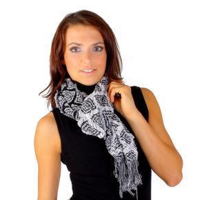 Hřejivý bílý šátek Tory D5