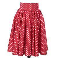 Retro dámská sukně Red červený puntík