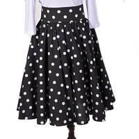Retro dámská sukně Black černý puntík