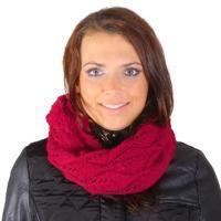 Zimní červený nákrčník Becky G1