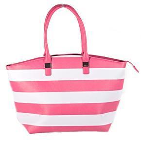 Pruhovaná dámská kabelka Lerry růžová