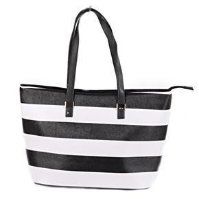 Pruhovaná dámská kabelka Lerry černá