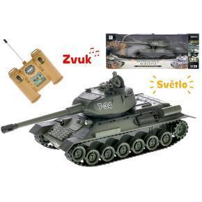 R/C zelený tank 1:28 se zvukem a světlem 26cm Rob