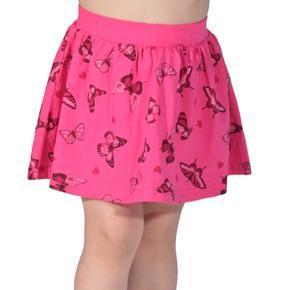 Dětská sukně s motýlama Stela tmavě růžová