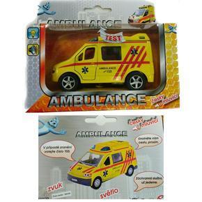 Auto ambulance se zvukem 10cm Milan