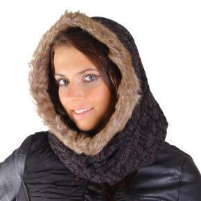 Moderní dámská zimní kukla Abbie černá A5
