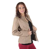 Béžová koženková bunda Peggy
