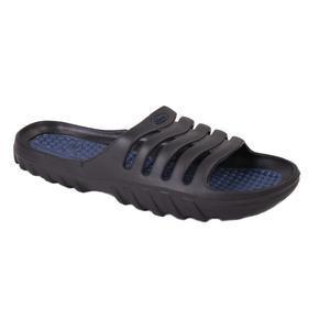 Nadměrné pánské gumové pantofle Sport černé