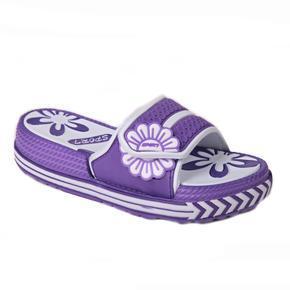 Gumové pantofle Brita fialové