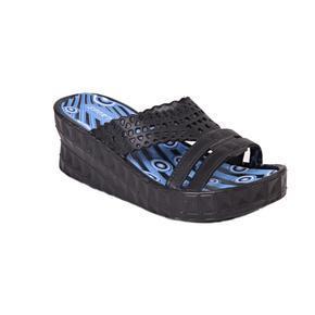 Gumové pantofle na klínku Megie černé