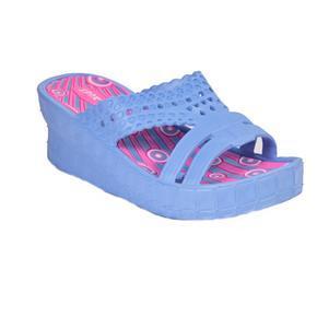 Gumové pantofle na klínku Megie modré
