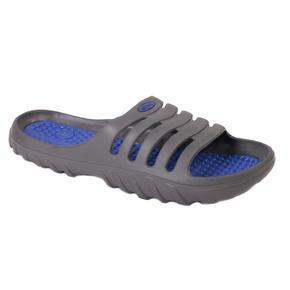 Nadměrné pánské gumové pantofle Sport šedé